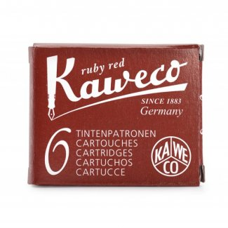 KAWECO INK CARTRIDGES 6 PC RUBY RED