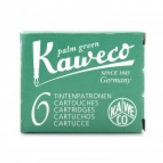 KAWECO INK CARTRIDGES 6 PC PALM GREEN