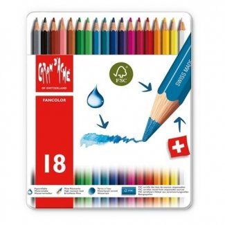CARAN D´ACHE FANCOLOR CX METALICA 18 CORES