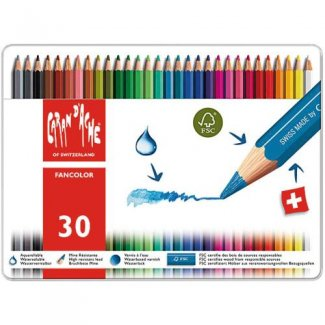CARAN D´ACHE FANCOLOR CX METALICA 30 CORES