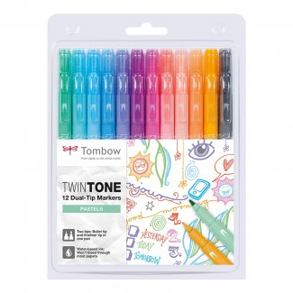 MARCADORES TOMBOW TWIN TONE 12 UNID. CORES