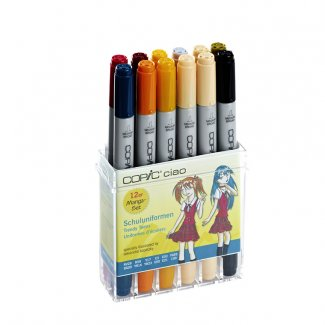 ESTOJO COPIC CIAO 12PCS SET INIFORMS ESCOLARES