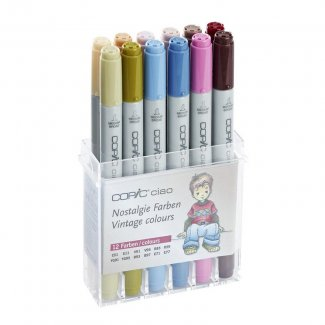 CAIXA COPIC CIAO 12 PCS SET TONS VINTAGE