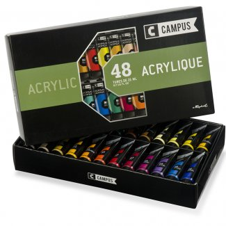 KIT ACRILICO CAMPUS 24 TUBOS 21 ML