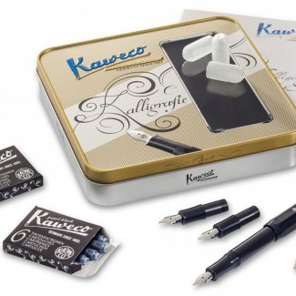 KAWECO CALLIGRAPHY SET BLACK (1.1/1.5/1.9/2.3) MIX