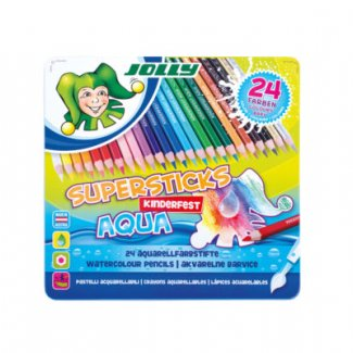 JOLLY SUPERSTICKS AQUA   CX 24PCS