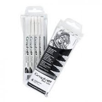GRAPH IT BOLSA DE 4 BRUSH LINERS CASTANHO